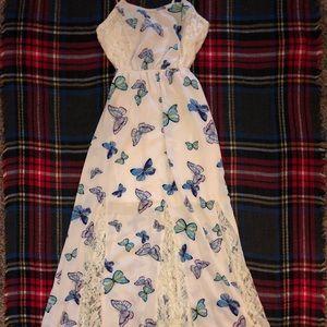 XS butterfly maxi dress